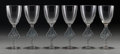Art Glass:Lalique, Six R. Lalique Clear Glass William Cocktail Glasses withBlue Patina, circa 1925. Marks: R. LALIQUE, FRANCE, N... (Total:6 Items)