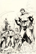 Original Comic Art:Covers, Jim Lee and Scott Williams Superman V2#208 Cover OriginalArt (DC, 2004)....
