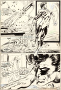 Original Comic Art:Panel Pages, Neal Adams and Bernie Wrightson Green Lantern #84 Story Page6 Original Art (DC, 1971)....