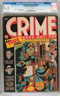 Golden Age (1938-1955):Crime, Crime Does Not Pay #25 (Lev Gleason, 1943) CGC VG+ 4.5 Tan to off-white pages....