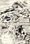Original Comic Art:Panel Pages, Jack Kirby and Frank Giacoia Tales of Suspense #81 StoryPage 6 Captain America Original Art (Marvel 1966)....