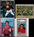 Football Collectibles:Photos, Len Dawson and Tom Watson Signed Photographs (4)....