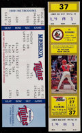 Baseball Collectibles:Tickets, 1985 and 1994 Cal Ripken Full Tickets (2)....