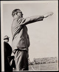 Football Collectibles:Photos, 1948 Curly Lambeau Original News Photograph - Definitive Image of Packers Legendary Coach!...