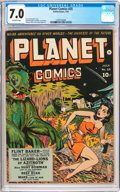 Golden Age (1938-1955):Science Fiction, Planet Comics #25 (Fiction House, 1943) CGC FN/VF 7.0 Off-whitepages....