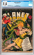 Golden Age (1938-1955):Science Fiction, Planet Comics #22 (Fiction House, 1943) CGC VF- 7.5 Off-whitepages....