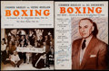 Boxing Collectibles:Autographs, 1954-55 Carmen Basilio Signed Programs Lot of 2....