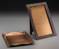 Art Glass:Tiffany , A Tiffany Studios Copper Tray and Picture Frame, Corona, New York,circa 1910. Marks to frame: TIFFANY & CO, MAKERS , M, 1...(Total: 2 Items)