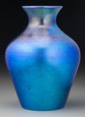 Art Glass:Other , A Quezal Blue Iridescent Glass Vase, Queens, New York, circa 1915.Marks: Quezal. 7-1/8 inches high (18.1 cm). ...