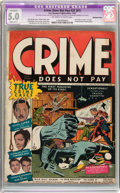 Golden Age (1938-1955):Crime, Crime Does Not Pay #22 Married Page (Lev Gleason, 1942) CGC Apparent VG/FN 5.0 Slight (B-1) Off-white to white pages....