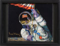 "Explorers:Space Exploration, Alan Bean Signed Limited Edition ""Red, White and Blue"" GicléeCanvas, #39/75...."