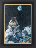 "Explorers:Space Exploration, Alan Bean Signed Limited Edition ""Moon Rovers"" Print, #17/550. ..."