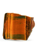 Lapidary Art:Carvings, Tiger's Eye Slab. Mt. Brockman Station. Pilbara. WesternAustralia. 3.56 x 3.24 x 1.00 inches (9.04 x 8.22 x 2.54 cm)....