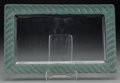 Art Glass:Lalique, An R. Lalique Clear Glass Rubans Perfume Tray with GreenPatina, circa 1936. Marks: R. LALIQUE, FRANCE. 15-5...