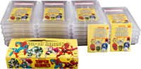 Marvel Super Heroes Full Box PSA-Graded Trading Cards (Donruss, 1966).... (Total: 25 Items)