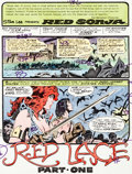 Memorabilia:Comic-Related, Frank Thorne Red Sonja #10 Complete Story Hand-Painted ColorGuide Group of 17 (Marvel, 1978).... (Total: 17 Items)