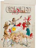 Original Comic Art:Covers, John Severin Cracked #151 Cover Painting Original Art (MajorPublications, 1978)....