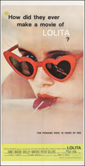 "Movie Posters:Drama, Lolita (MGM, 1962). Three Sheet (41.5"" X 83""). Drama.. ..."