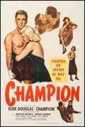 "Movie Posters:Sports, Champion (United Artists, 1949). One Sheet (27"" X 41""). Sports.. ..."