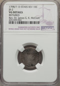 Early Dimes, 1798/97 10C 13 Stars Reverse, JR-2, R.6 -- Repaired -- NGC Details.VG....