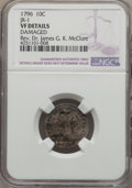 Early Dimes, 1796 10C JR-1, R.3 -- Damaged -- NGC Details. VF....