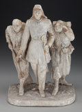 Bronze:American, John Rogers (American, 1829-1904). The Picket Guard, circa1862. Cast and painted plaster, wire. 14 inches high (35.6 cm...