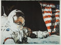 "Explorers:Space Exploration, Gene Cernan Signed Ron Woods ""CDR Gene Cernan Apollo 17""Artist-Signed Print, with COA. ..."