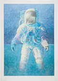 """Explorers:Space Exploration, Alan Bean Signed Limited Edition """"That's How it Felt to Walk on theMoon"""" Print, #222/850. ..."""