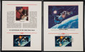 "Autographs:Celebrities, Alexei Leonov Signed ""Fifteenth Anniversary of the First SpaceWalk"" Fleetwood Soviet Stamp Presentation. ..."