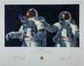"Explorers:Space Exploration, Alan Bean Signed Limited Edition ""Heavenly Reflections"" Print, also Signed by Charles Conrad, #137/850. ..."