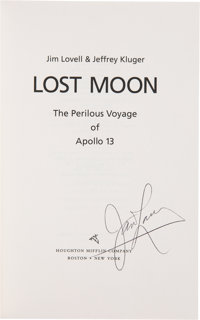 James Lovell Signed Book: Lost Moon