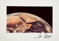 Explorers:Space Exploration, Gene Cernan Signed Large Apollo 17 Translunar Injection Color PhotoOriginally from His Personal Collection, with COA. ...