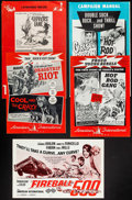 Movie Posters:Exploitation, Dragstrip Riot/The Cool and the Crazy Combo & Others Lot(American International, 1958). Pressbooks (12) (Multiple Pages,11... (Total: 12 Items)