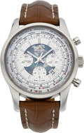 Timepieces:Wristwatch, Breitling Transocean Unitime Certified Chronometer Chronograph Worldtime Wristwatch. ...