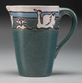 Ceramics & Porcelain, American:Modern  (1900 1949)  , A Saturday Evening Girls Ceramic Creamer with Swan Motif, Boston,Massachusetts, circa 1915. Marks: SEG, LO-20, JMD. 4-1...