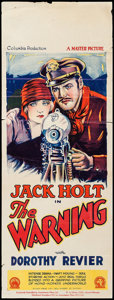 "Movie Posters:Adventure, The Warning (Columbia, 1928). Australian Pre-War Daybill (15"" X40""). Adventure.. ..."