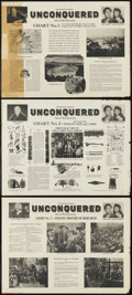 "Movie Posters:Adventure, Unconquered (Paramount, 1947). Promotional Posters (3) (22.5"" X30""). Adventure. ... (Total: 3 Items)"