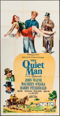 "Movie Posters:Drama, The Quiet Man (Republic, 1952). Three Sheet (41"" X 79""). Drama....."