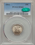 Barber Dimes: , 1911 10C MS66 PCGS. CAC. PCGS Population (81/27). NGC Census:(49/10). Mintage: 18,870,544. Numismedia Wsl. Price for probl...
