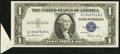 Error Notes:Attached Tabs, Fr. 1614 $1 1935E Silver Certificate. Choice Crisp Uncirculated.....
