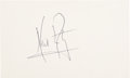 Autographs:Celebrities, Neil Armstrong Signature....