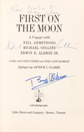 Autographs:Celebrities, Buzz Aldrin and Michael Collins Signed Book: First on theMoon. ...