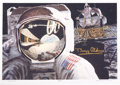 "Explorers:Space Exploration, Buzz Aldrin Signed B. E. Johnson ""Reflections"" Artist-Signed Print, with COA. ..."
