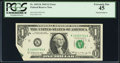 Error Notes:Foldovers, Fr. 1903-K $1 1969 Federal Reserve Note. PCGS Extremely Fine 45.....