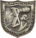 Explorers:Space Exploration, Apollo 10 Flown Silver Robbins Medallion, Serial Number 107, Originally from the Personal Collection of Mission Command Module...