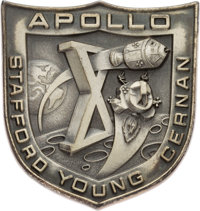 Apollo 10 Flown Silver Robbins Medallion, Serial Number 107, Originally from the Personal Collection of Mission Command...