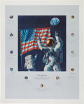 "Explorers:Space Exploration, Alan Bean Signed Limited Edition ""In the Beginning..."" Print,Signed by a Total of Twenty Apollo Astronauts, #493/1000...."