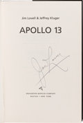 Autographs:Celebrities, James Lovell Signed Book: Apollo 13....