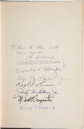Explorers:Space Exploration, Mercury Seven Astronauts: Martin Caidin's The Astronauts Book Signed by All. ...