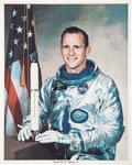 Autographs:Celebrities, Ed White II Signed and Uninscribed Silver Spacesuit Color Photo. ...